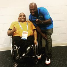 Sujit Reddy and Mark Strong at Parapan Games at Ryerson Centre  August 2015