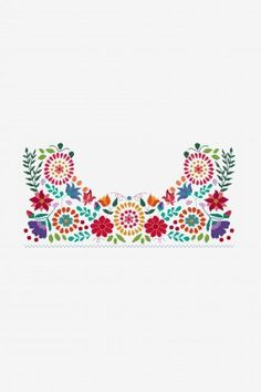 Free cross stitch, embroidery, knitting and crochet patterns - Pattern diagrams Live life - Mexican Embroidery, Floral Embroidery, Cross Stitch Embroidery, Hand Embroidery, Embroidery Patterns Free, Cross Stitch Patterns, Embroidery Designs, Knitting Patterns, Crochet Patterns