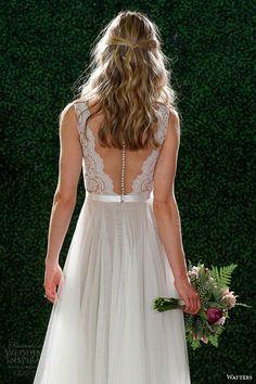 watters spring 2015 bridal sleeveless wedding dress style 6049b santina illusion back view Watters Spring 2015 Wedding Dresses Venetian Bridal Collection