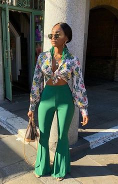 summer outfits that looks amazing pic 00593 Black Girl Fashion, Look Fashion, Fashion Outfits, Womens Fashion, Fashion Trends, City Fashion, 70s Fashion, Fashion Art, Korean Fashion