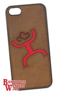 Get Your HOOey, Real Leather, iPhone 5 Cover, Red HOOey Man Inlay, Calf Roping, Team Roping, Steer Wrestling, Rodeo, $32, http://www.bunkhousewestern.com/7751_p/7751.htm