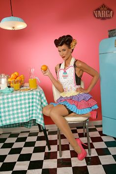 Pin up in kitchen
