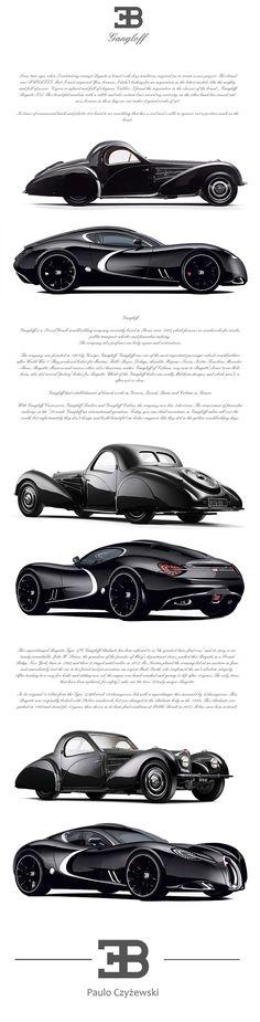 Bugatti Gangloff Concept by Paweł Czyżewski  simplemente increible