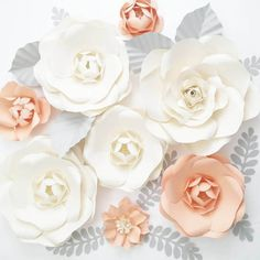 Extra large Paper Flower Backdrop  Nursery Decor  by PAPERandPEONY