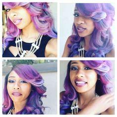 Diamonds purple hair