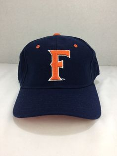 finest selection 4b54d a085a Cal State Fullerton Titans CSUF Baseball Fitted Fit Cap Hat 7 5 8 Vtg Logo