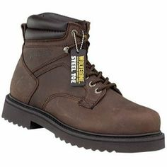 9cf9e53f4dc7b Wolverine Men s Leather Steel Toe 6 in work boot brown 89.99 Wolverine