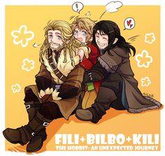 Fili, Kili and fem Bilbo