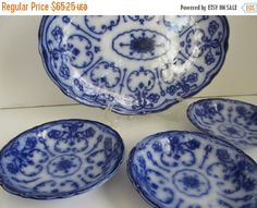 ON SALE Conway Pattern Beautiful Flow Blue by ReVintageLannie