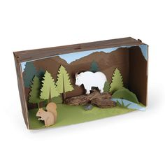 Mountain Life Diorama More Shoe Box Diorama, Diorama Kids, School Projects, Projects For Kids, Art Projects, Kids Art Class, Art For Kids, Mountain Crafts For Kids, Esquivel