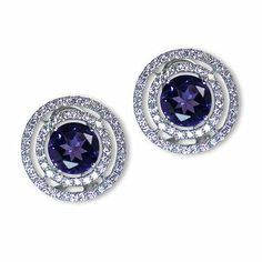 I'm shaearrings one additional dazzling colored gem stone earrings - Parris Jewelers Gemstone Colors, Semi Precious Gemstones, Gemstone Earrings, Diamond Engagement Rings, Sapphire, Jewels, Bijoux, Gemstones, Jewlery