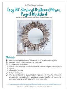 Easy DIY Starburst Driftwood Mirror — Sustain My Craft Habit