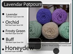 Potpourri yarn inspired colours.