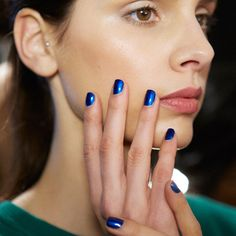 Fall 2015 Nail Polish Trend Report | Metallic Cobalt| @andwhatelse