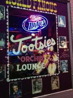 Tootsies Orchid Lounge, Downtown Nashville.    Loud, crowded, rundown -  but still a World Famous Honky Tonk!