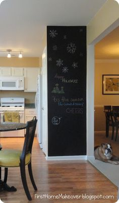 first home makeover: Chalkboard Paint
