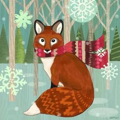 Woodland Fox by Jennifer Brinley | Ruth Levison Design
