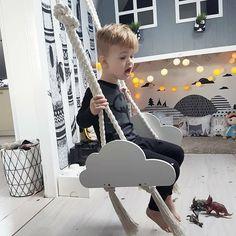 Drewniana huśtawka dla dzieci Cloud Swing - wild_one - Rękodzieło dla dzieci