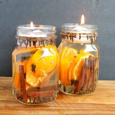 Make these fall candles to add some all natural scents to your home. A quick and easy DIY project that is perfect for fall decor!