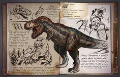 Rex   Tyrannosaurus   Тираннозавр   ARK: Survival Evolved
