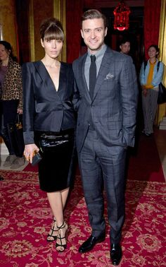 Suit and Tie love at Tom Ford Fall 2013 show. Lancaster House. London, England.