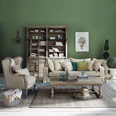 Papier peint vert bambou pour une ambiance v g tale en trompe l 39 oeil ch - Papier peint trompe oeil leroy merlin ...