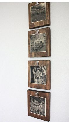 Set of FOUR 4 Rustic Wall Clip Frame Picture Display | Etsy