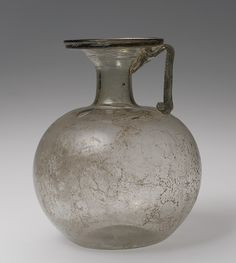 Pitcher, 3rd–4th century a.d., Roman, Blown glass