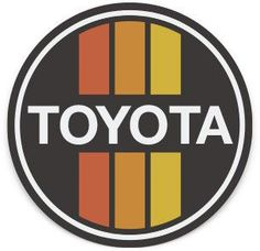 Retro Black Toyota Sticker
