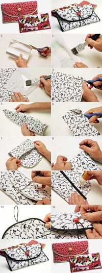 How to Turn a Milk Box into a Chic Wallet How to Turn a Milk Box into a Chic WalletRecycle the milk cartons and transform them into a pretty wallet. This creative idea is very simple Sewing Tutorials, Sewing Crafts, Sewing Projects, Sewing Patterns, Diy Crafts, Sewing Tips, Diy Wallet, Wallet Tutorial, Milk Carton Crafts