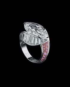 Alexandre Reza - The Jewels-white and pink diamond ring