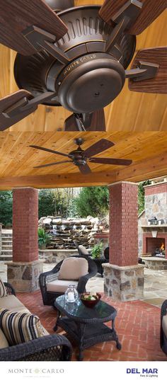 """The Monte Carlo Cyclone outdoor ceiling fan provides powerful airflow for outdoor environments. With a 60"""" blade span and a premium power motor, the Cyclone is guaranteed to clear the air quickly and efficiently. 