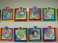 So many cute art ideas for first grade!  Love the all about me boxes and the end of the year self portrait craft.