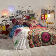 housse de couette percale mandala desigual housses de couette linge de lit adulte linge de. Black Bedroom Furniture Sets. Home Design Ideas