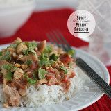 Spicy Slow Cooker Peanut Chicken