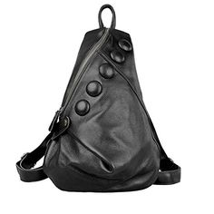 ZENTEII Women Soft Cow Leather Button Backpack Bag Travel Bags -- You can find out more details at the link of the image. (Note:Amazon affiliate link)