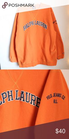 MENS POLO SWEATSHIRT orange ralph lauren polo Polo by Ralph Lauren Shirts Sweatshirts & Hoodies