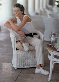 US Vogue January 1994 Soft Focus Ph: Arthur Elgort Model: Claudia Schiffer Fashion Editor: Brana Wolf Hair: Christiaan Makeup: Sonia Kashuk