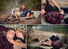 Cutest engagement session EVER! Cozy, camping theme.