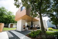 200 Pearl Street on the Modern Atlanta Home Tour. 1,950 sq. ft. / 3 bed, 3 bath. Brian Ahern and Jeff Darby of Darby Construction. Modern Atlanta Architecture. Wood and stucco modern residential home exterior.