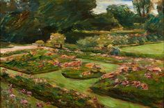 Max Liebermann, Flower Terrace in the Garden, Wannsee, 1915. Oil on canvas. 60 x 89.5 cm. Die Lübecker Museen. Museum Benhaus Drägerhaus. Photo © Die Lübecker Museen. Museum Behnhaus Drägerhaus. Exhibition co-organised by the Royal Academy of Arts and the Cleveland Museum of Art.