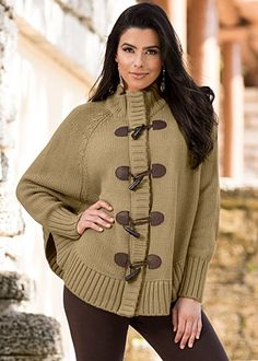 batwing toggles sweater