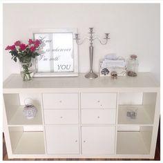 IKEA kallax storage with 4 drawer inserts Ikea Bedroom, Bedroom Storage, Kallax Regal, Drawer Inserts, Ikea Closet, Ikea Storage, Book Storage, Ikea Furniture, Furniture Design