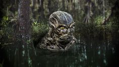 A concept painting of a humanoid toad creature.