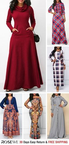 Cowl Neck Wine Red Long Sleeve Maxi Dress.#rosewe#maxidress#dresses, long dress, maxi dress, dresses outfit, fall dress outfit, maxi dresses, long sleeve dress, cute dress, fashion dress 2018. Pretty Outfits, Pretty Dresses, Beautiful Dresses, Fall Dresses, Dress Outfits, Fashion Outfits, Dress Fashion, Womens Fashion, African Fashion Dresses
