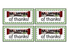 """You've been """"Mounds"""" of help. Thank you!"""