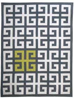 Lee Heinrich from Freshly Pieced leads this Greek Key Quilt-along at WeAllSew.