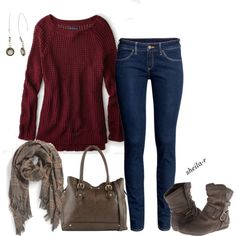 """""""Fall/Winter outfit-Over 40 Fashion"""" by sheila-r on Polyvore"""