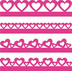 valentines borders set 57671------------------------I think I'm in love with this shape from the Silhouette Design Store!