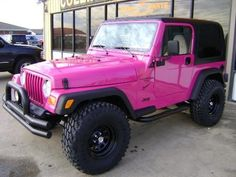 nice Pink Cars: Pink Jeep Wrangler - Awesome Girly Cars & Girly Stuff!...  4 X 4